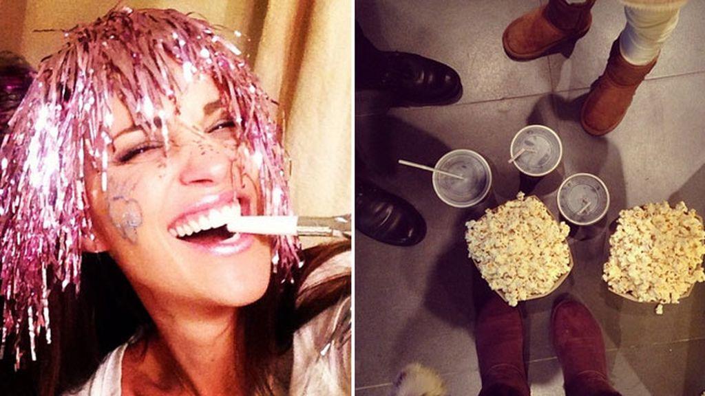 Paula Echevarría, divertida de fiesta y al cine en familia el día de Año Nuevo