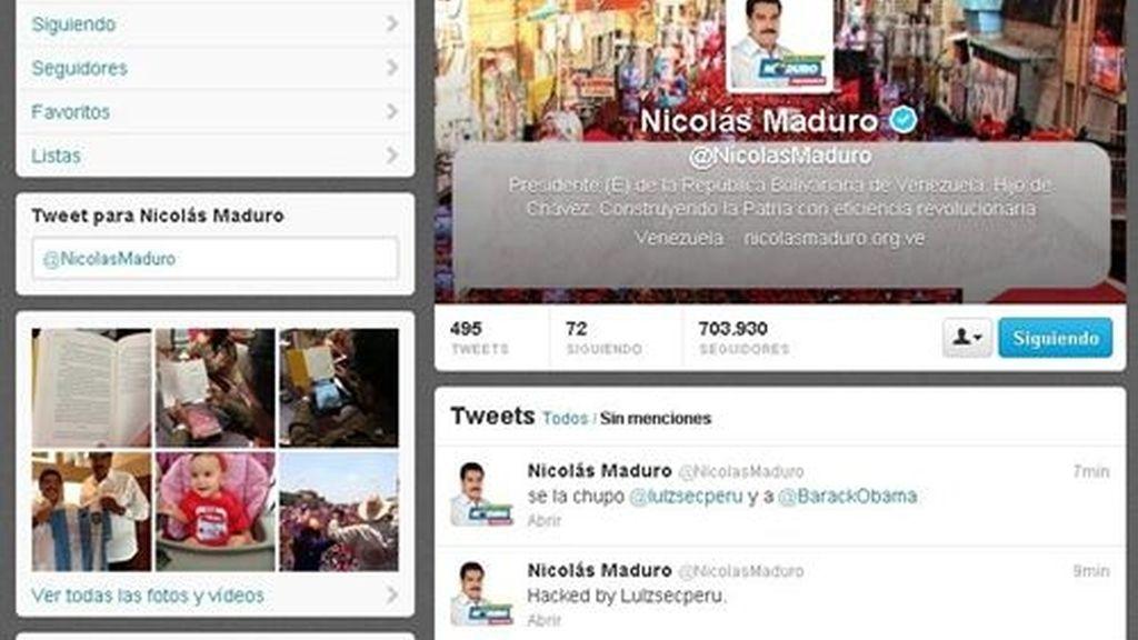 Anonymous hackea la cuenta oficial de Twitter de Nicolás Maduro