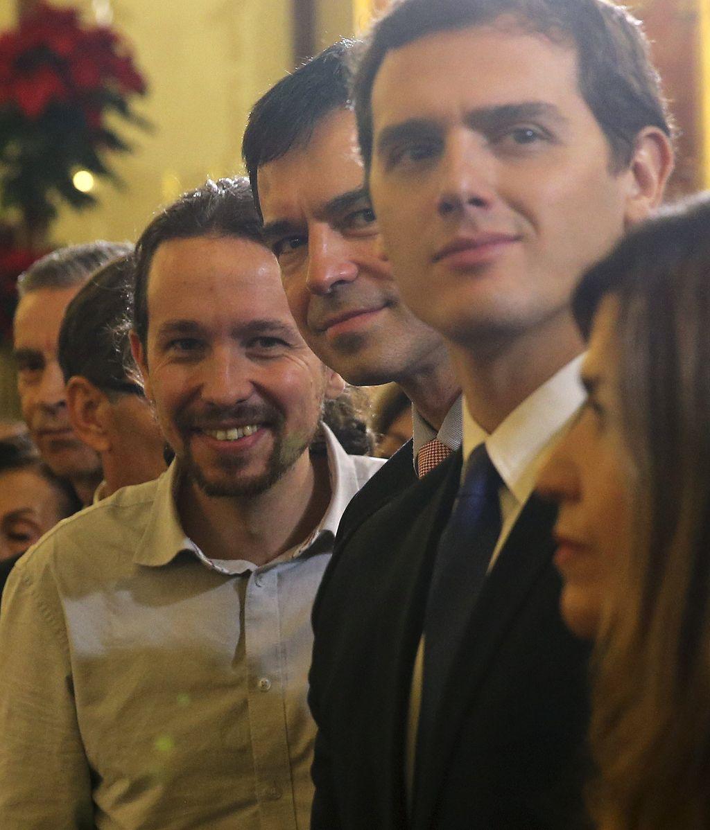 Líderes políticos en la recepción