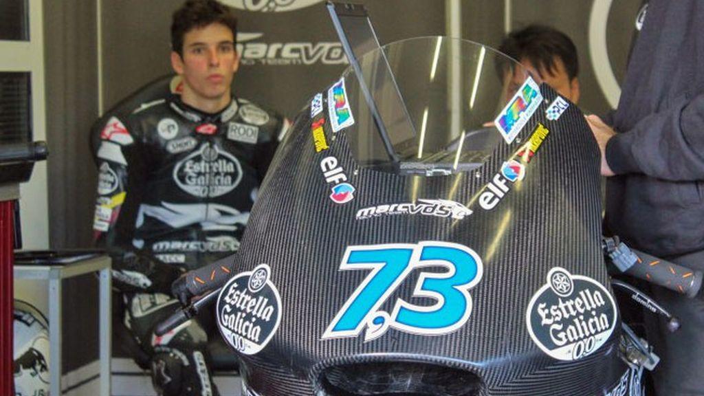 El campeón de Moto3 se adapta a la nueva categoría