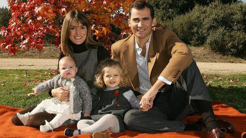 Felicitación navideña con Sofía (14/12/2007)