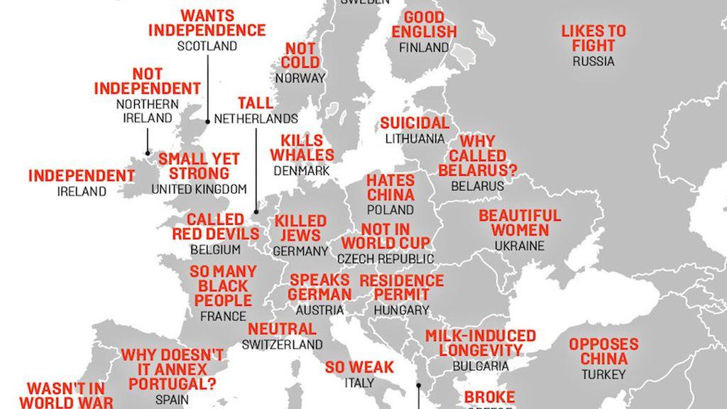Mapa sobre estereotipos