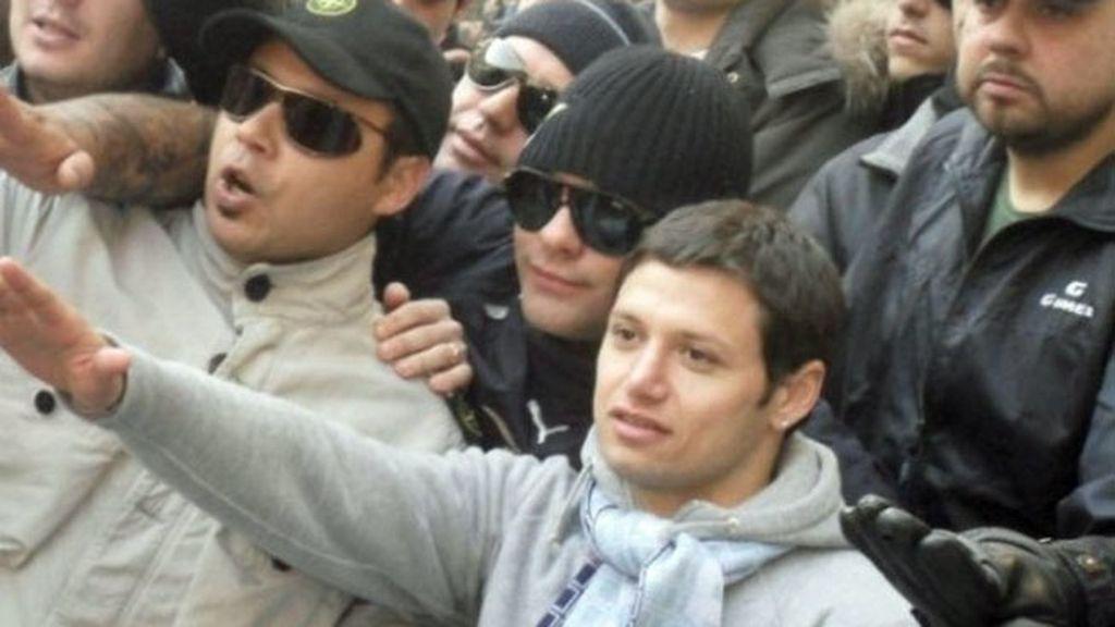 Zárate, en una reunión de los ultras más radicales de la Lazio
