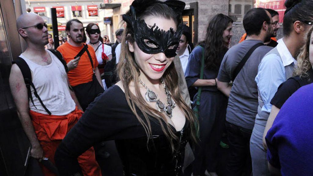 Catwoman tampoco quiso perderse el estreno
