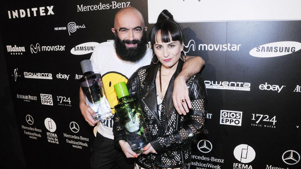 Carlos Díez Díez y María Escoté vuelven a compartir pasarela tras la ausencia del primero en la última edición de la MBFW