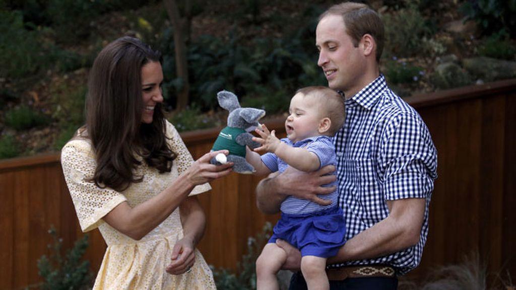 El pequeño se divirtió con un 'bilby' bautizado con su mismo nombre