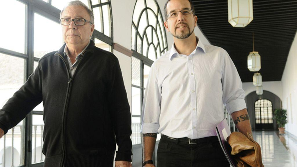 Sergio Pascual y Manuel Garí de Podemos se reunen con el PSOE-A