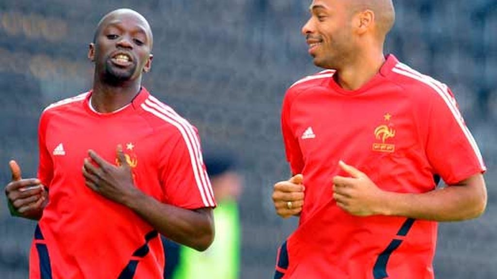 Thierry henry y Claude Makelele