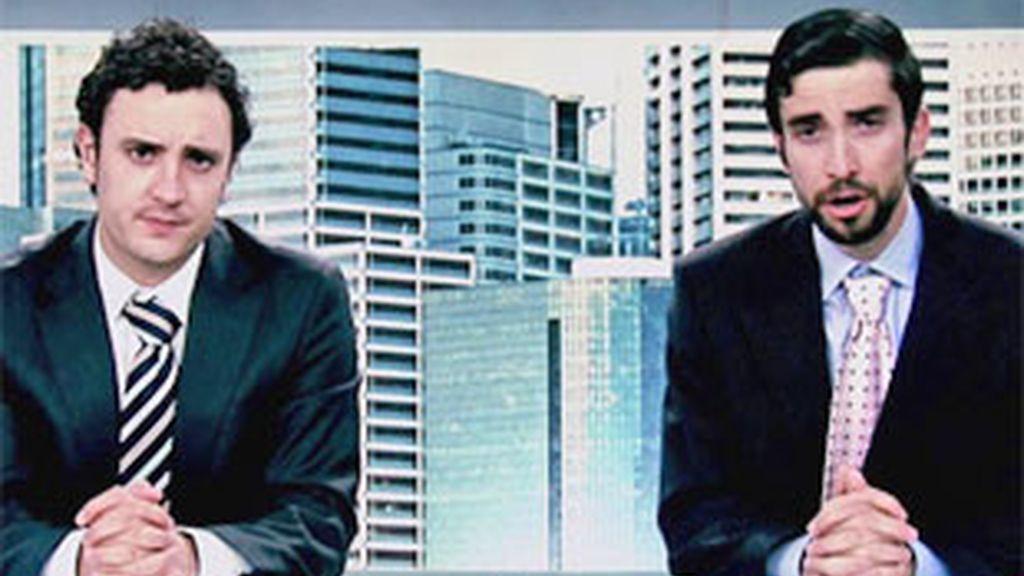Willy y Diego, protagonistas de 'Becari@s'