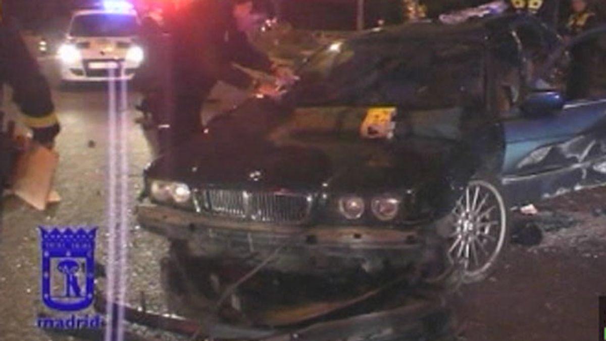 Grave accidente en Madrid