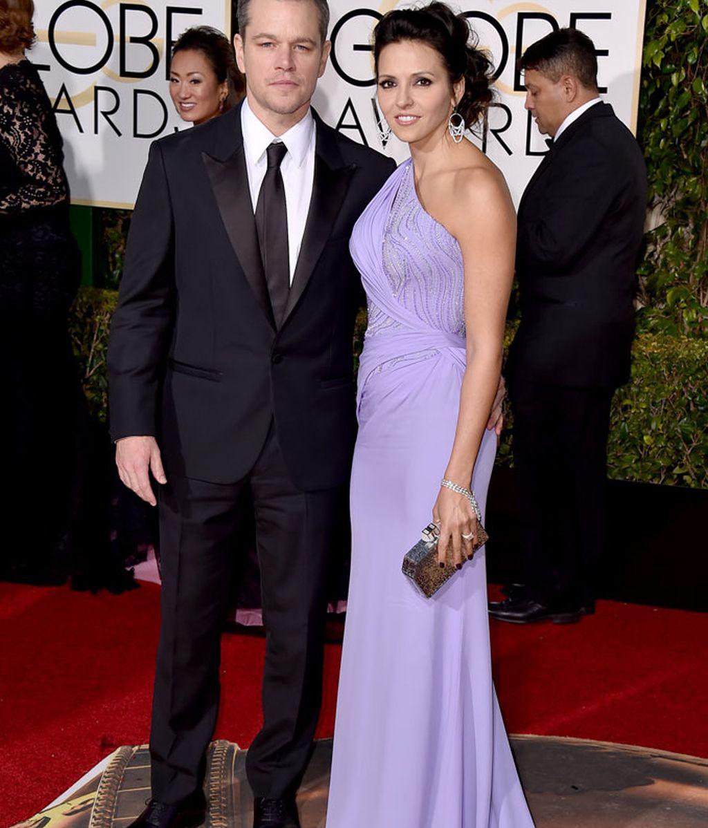 Matt Damon y su esposa Luciana Barroso