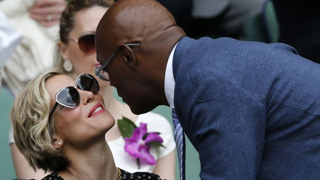 Elsa Pataky y Samuel L Jackson se saludaron muy afectuosamente