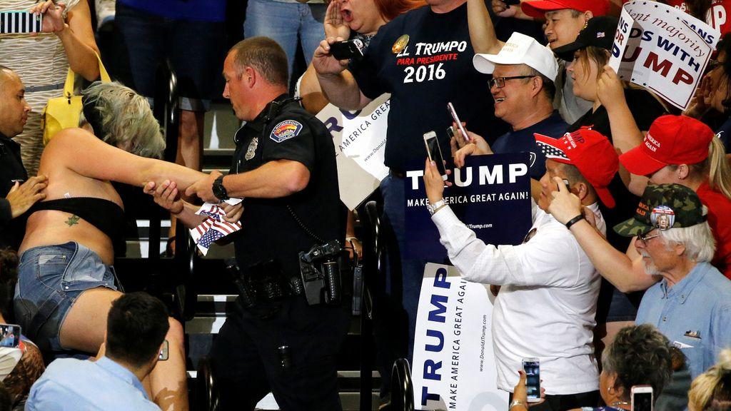 Altercado durante un mitin electoral de Donald Trump