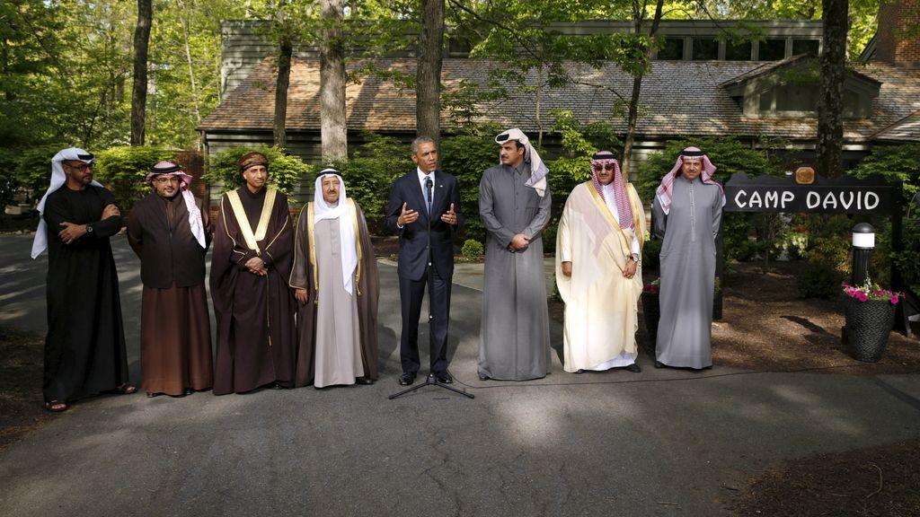 Obama con los líderes de los países del Golfo