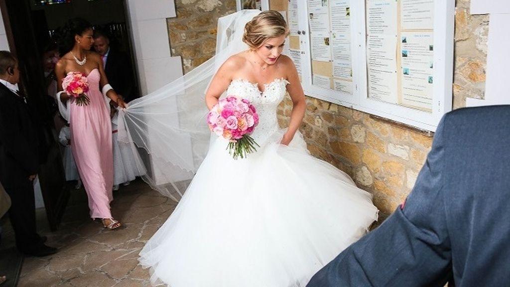 El 'outfit nupcial de la novia