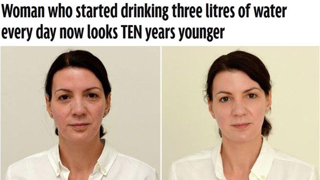 'Rejuvenece' bebiendo tres litros de agua al día