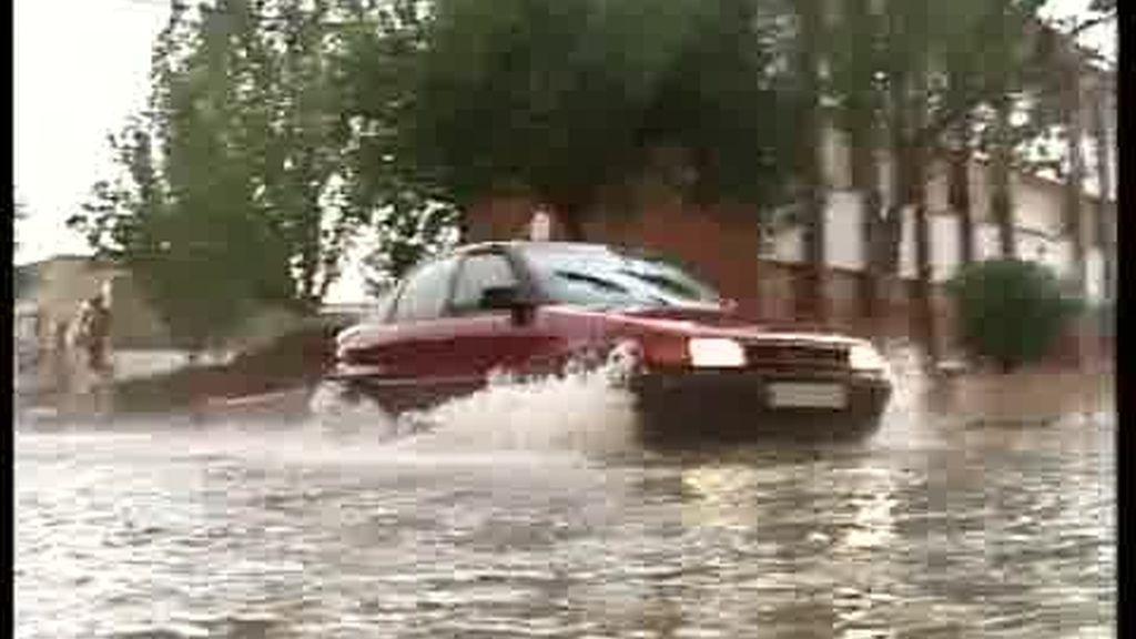 Calles convertidas en ríos en Castilla La Mancha