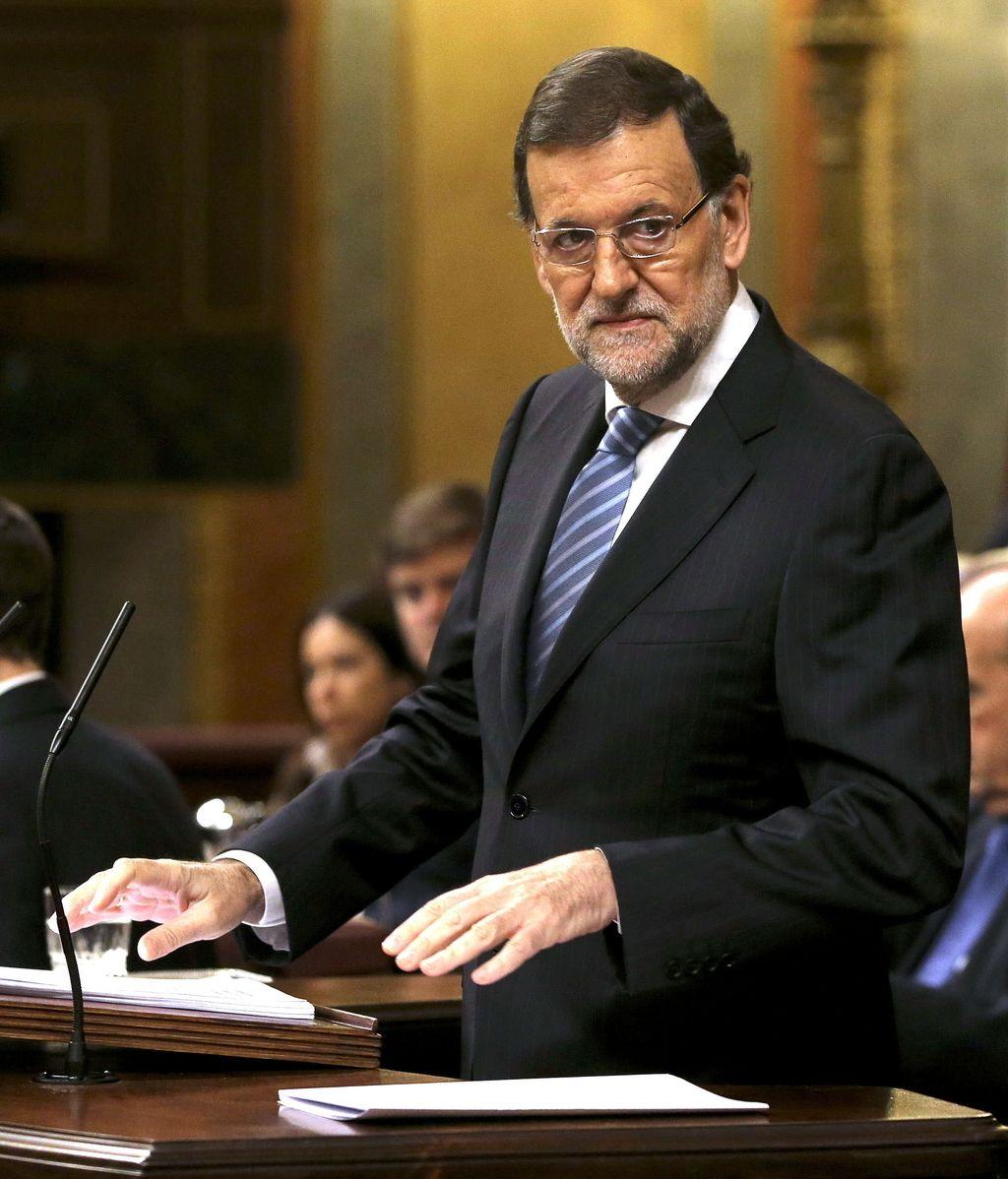 El presidente del Gobierno, Mariano Rajoy, en el pleno sobre corrupción en el Congreso