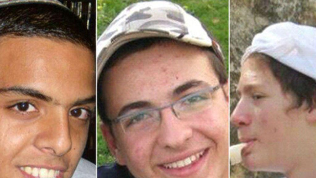 Los tres jóvenes israelíes secuestrados