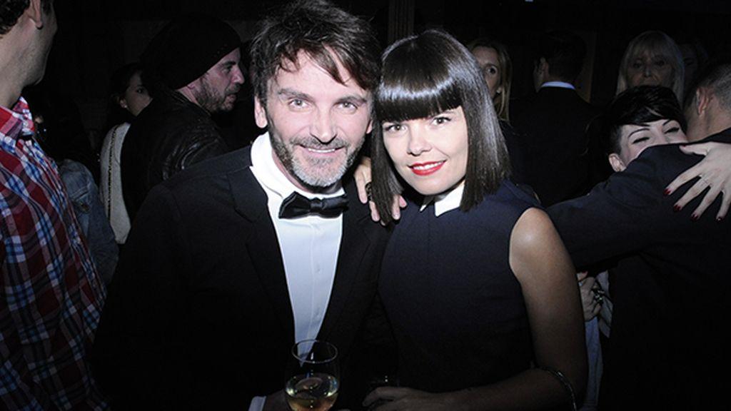 Fernando Tejero y Laura Caballero vestidos de Davidelfín