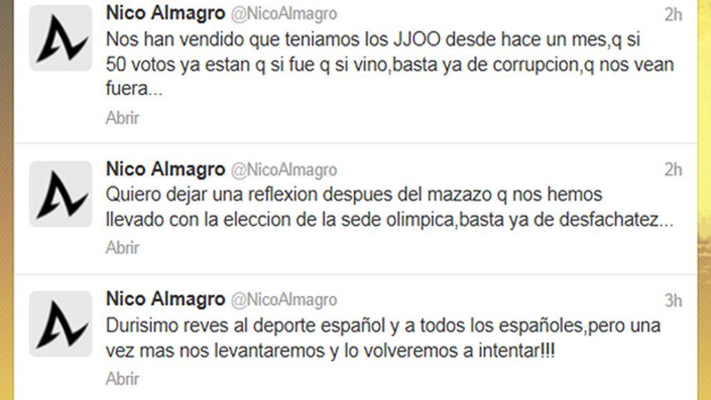 El tenista Nicolás Almagro, muy enfadado tras la derrota de Madrid 2020