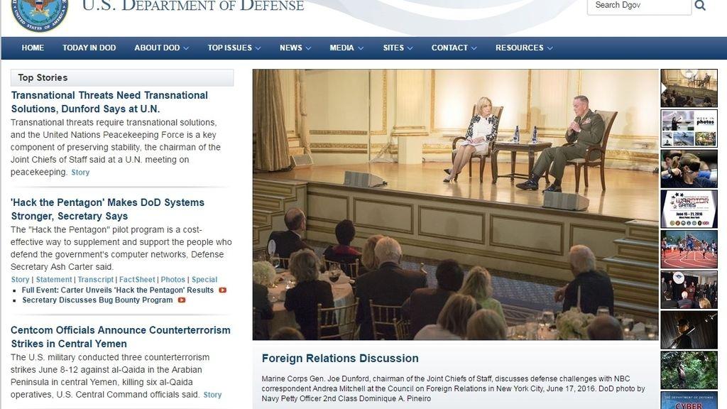 Página web Pentágono