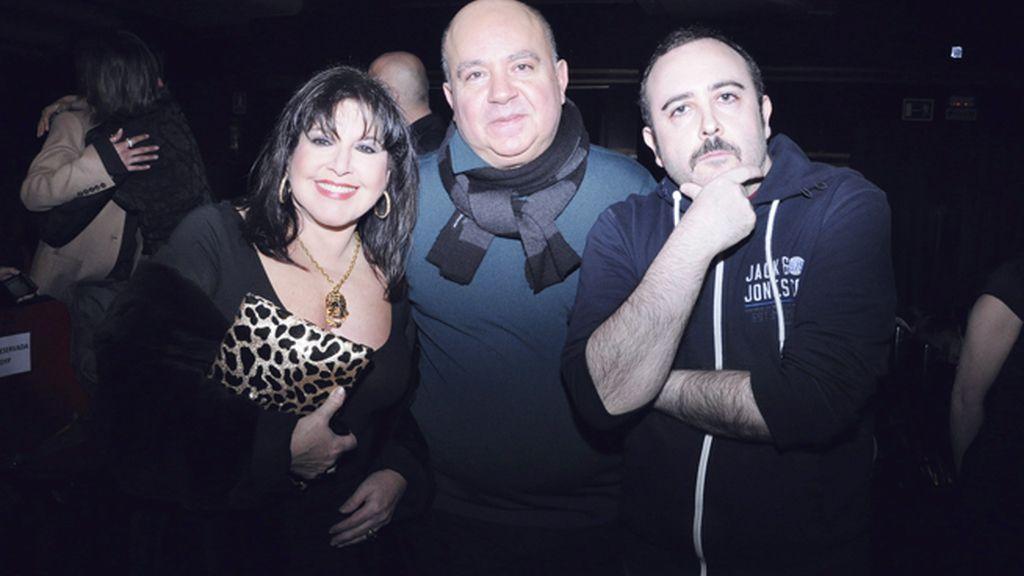 Loles León, Agustín Almodóvar y Carlos Areces