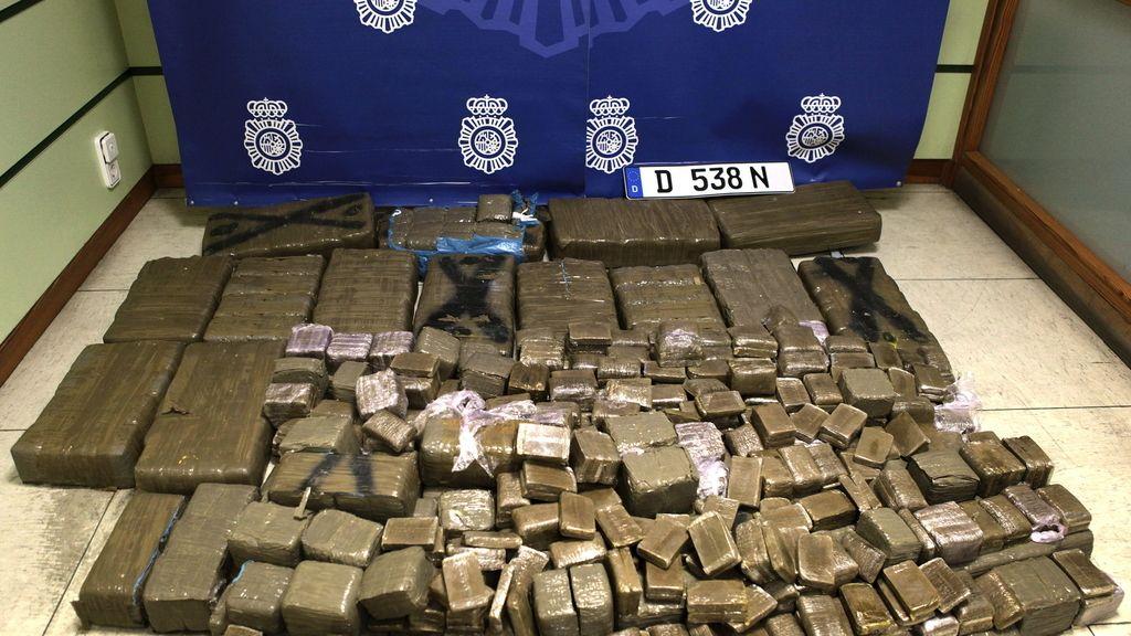 Detenido con 277 kilos de hachís en un todoterreno en Zaragoza
