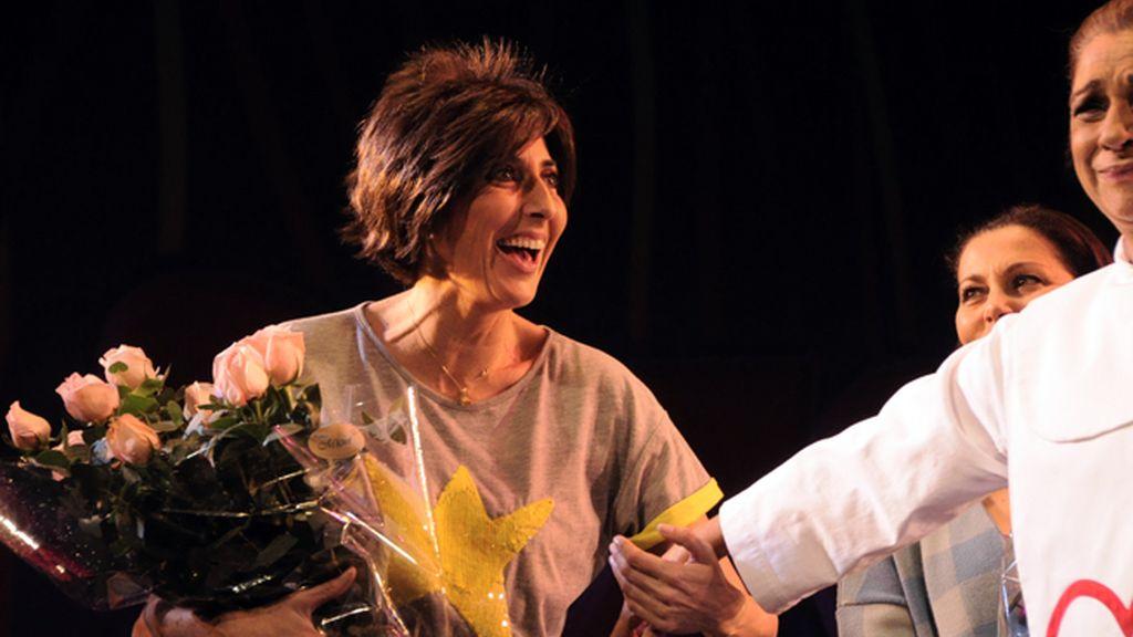 """Paz Padilla saludó muy emocionada a los espectadores, entre los que se encontraban sus compañeros de """"Sálvame"""""""