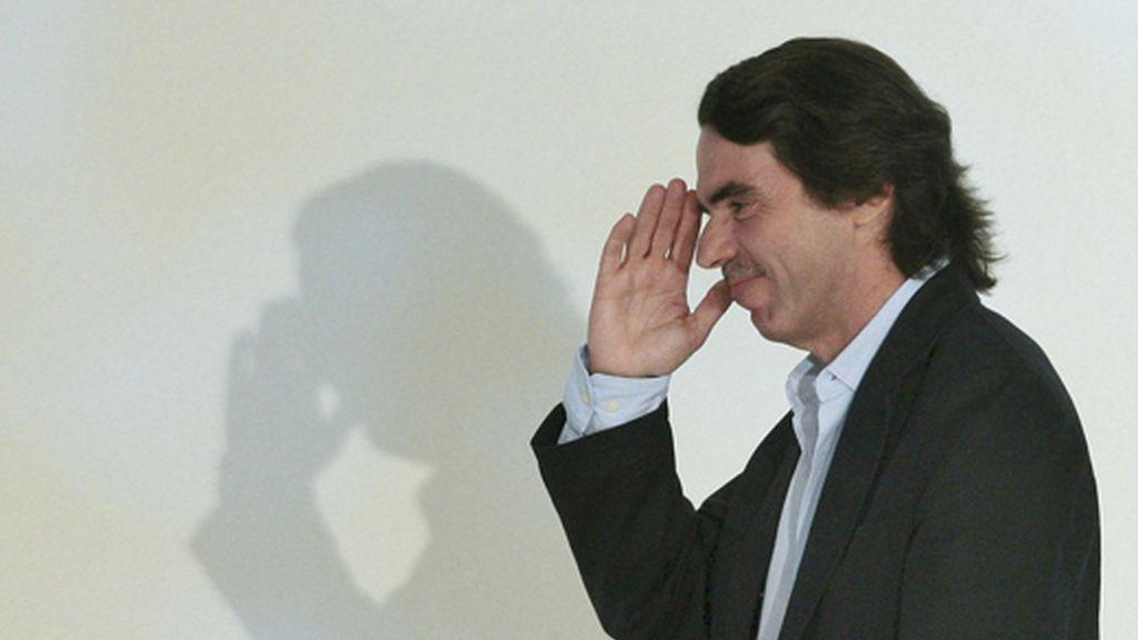El presidente de honor del PP, José María Aznar, se ha negado a hacer declaraciones. Foto: EFE