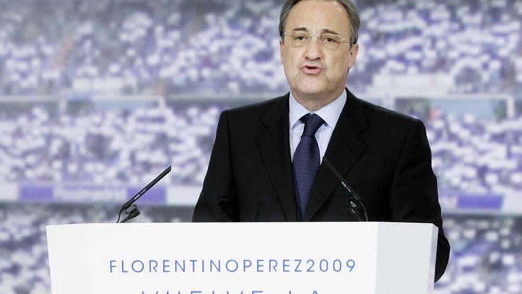 Florentino promete hacer un Madrid más competitivo