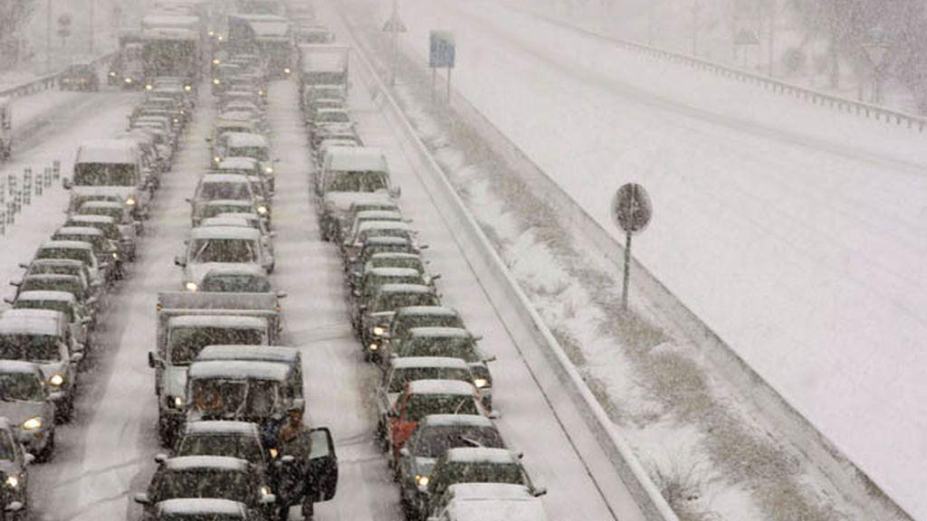 Tráfico nieve