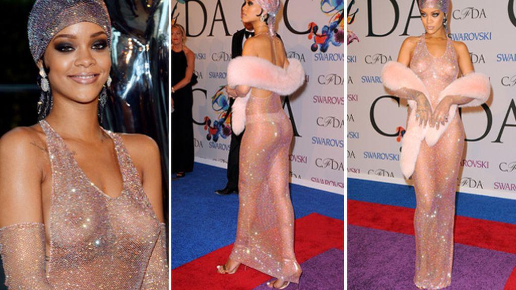La Rihanna más provocadora en la alfombra roja