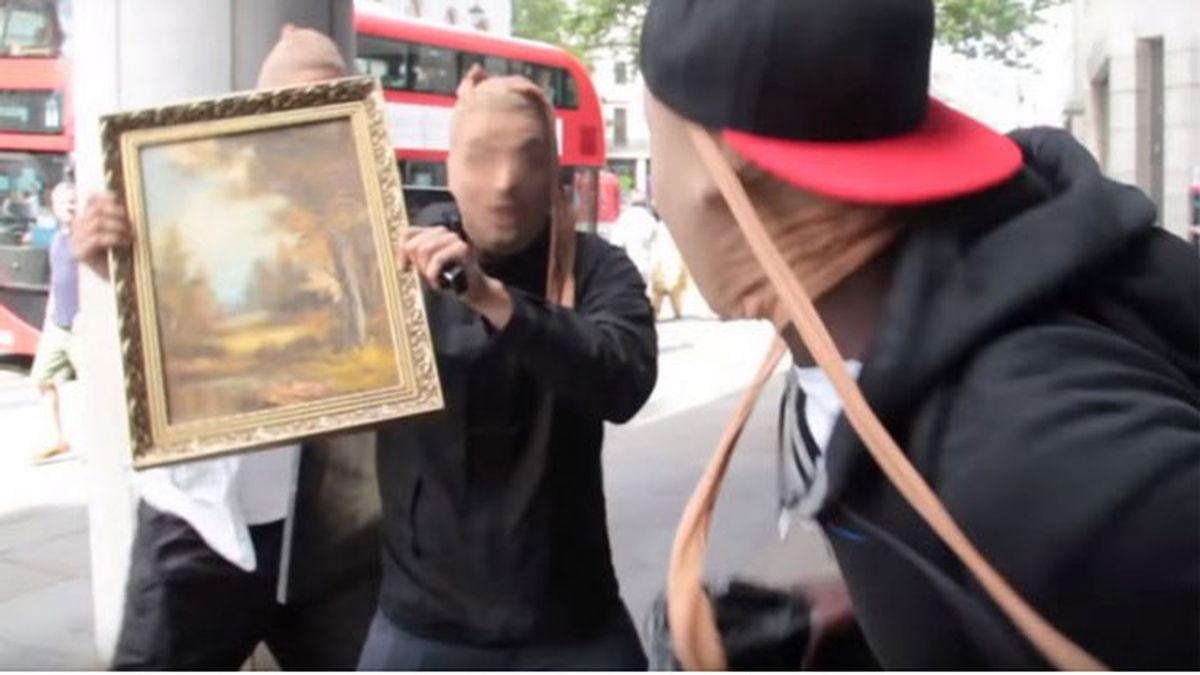 youtubers británicos, robo falso galería Londres, Trollstation, galería Wolfson