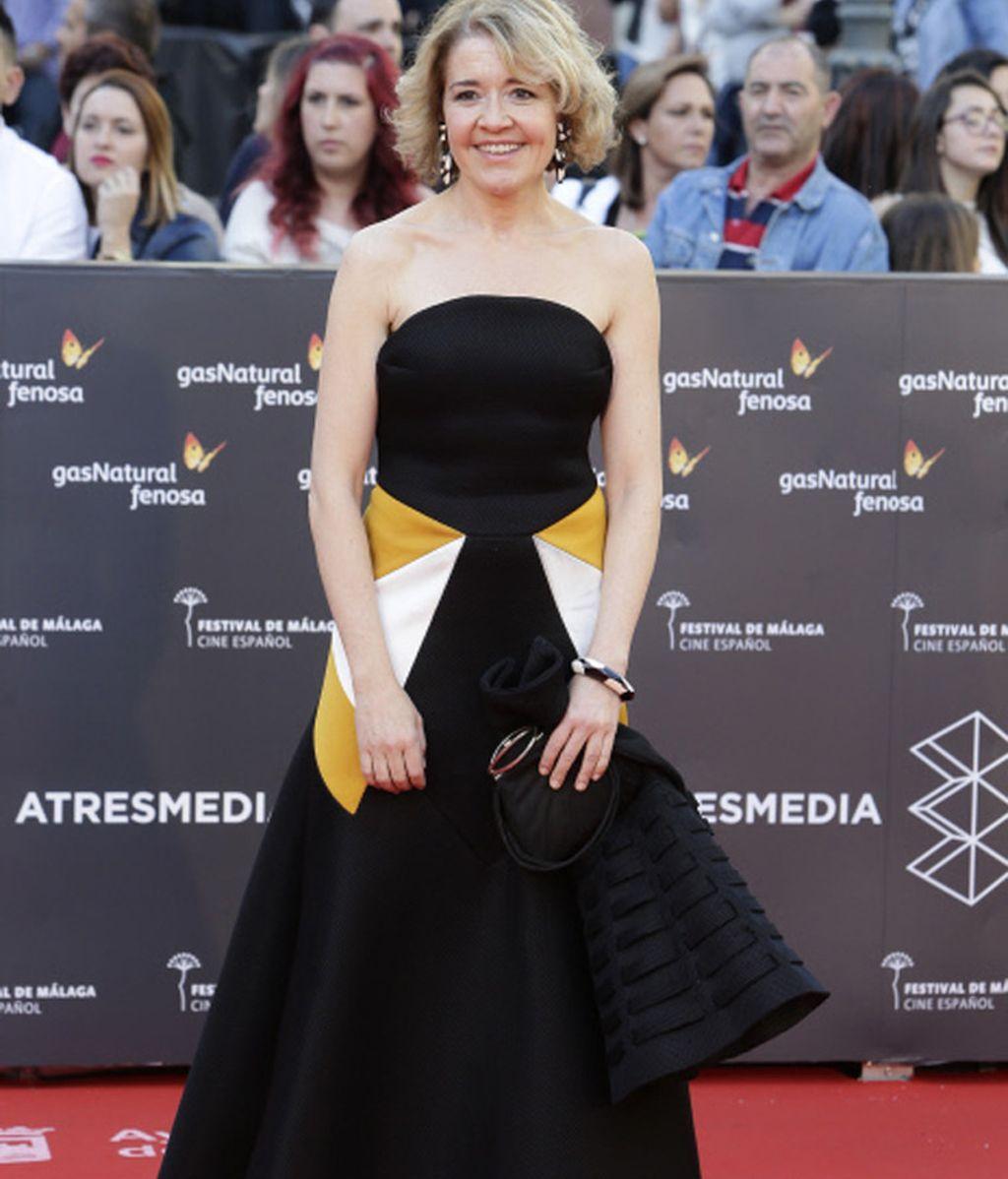 La actriz María Pujalte en la inauguración del Festival de Cine de Málaga