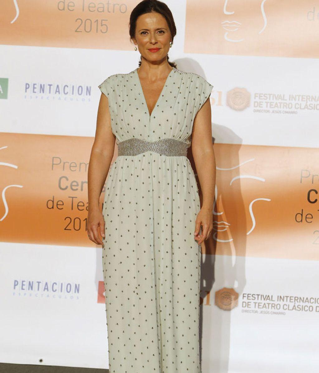 El vestido de lunares y de corte romano de Aitana Sánchez Gijón