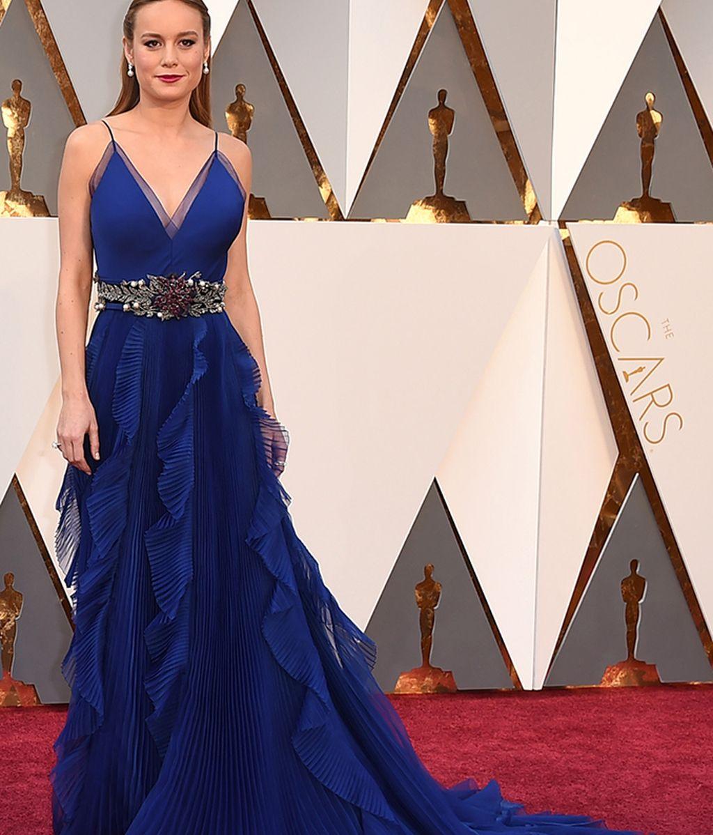 Brie Larson, vestida de Gucci, ganó el Oscar a la mejor actriz