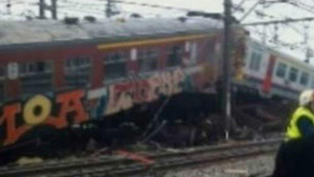Al menos 18 muertos por un choque de trenes en Bélgica