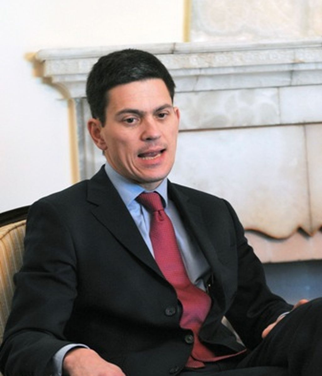 El ministro británico de Asuntos Exteriores, David Miliband.
