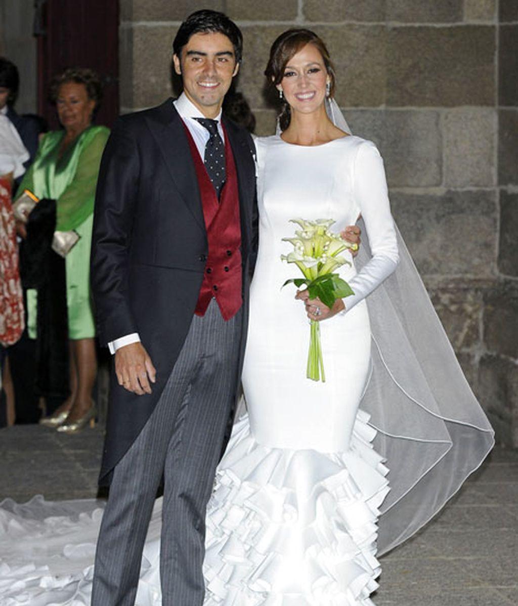 El torero Miguel Ángel Perera y Verónica Gutierrez, ya como marido y mujer