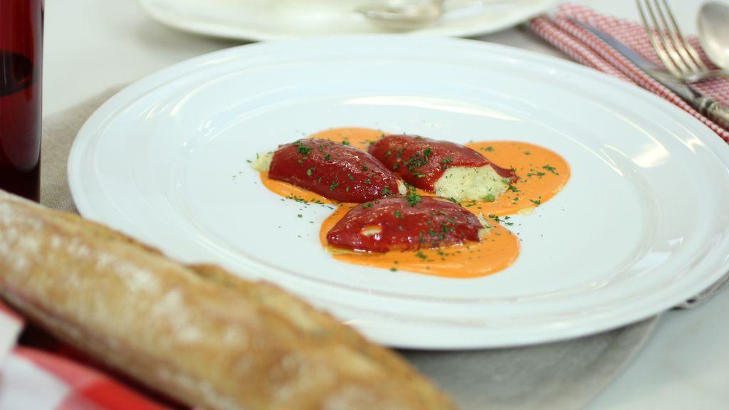Pimientos rellenos de bacalao de 'Robin Food'