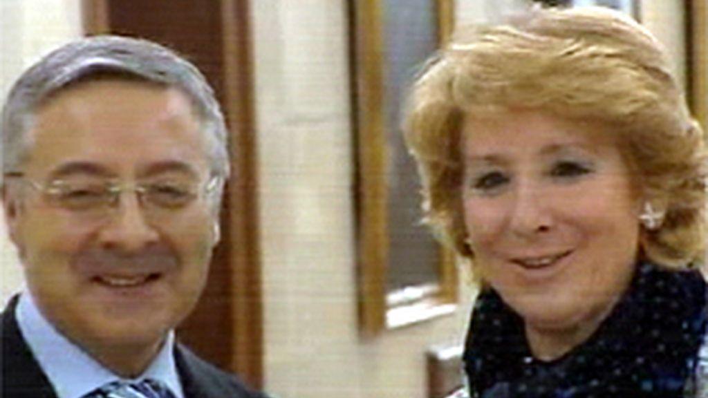 José Blanco y Esperanza Aguirre