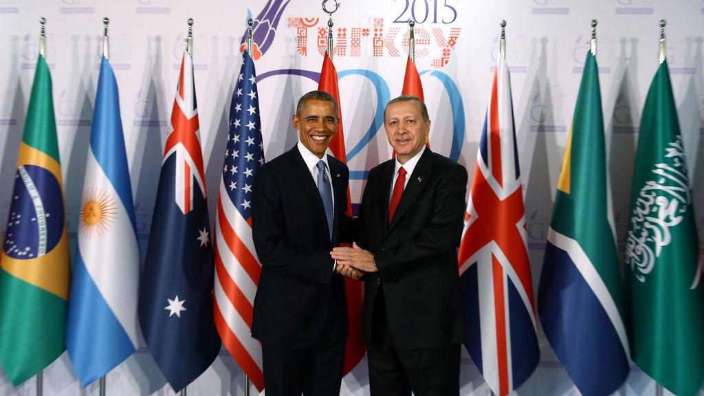Barack Obama y Recep Tayyip Erdogan en una imagend e archivo