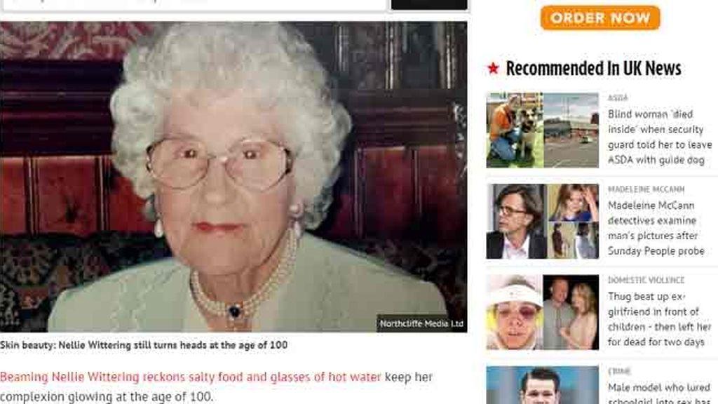 Una centenaria comparte sus trucos para mantenerse joven y guapa