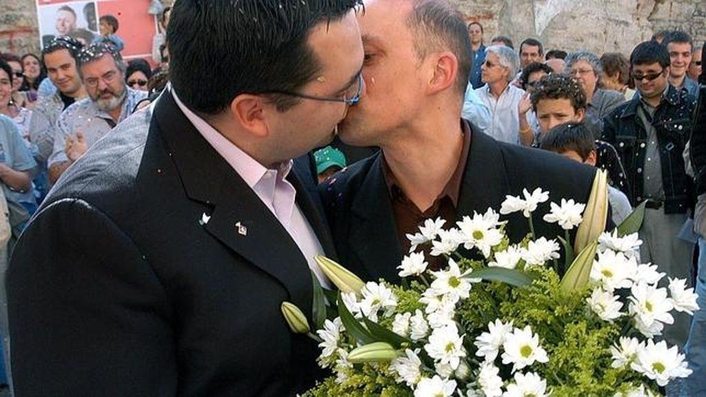 Imagen de archivo de una boda gay
