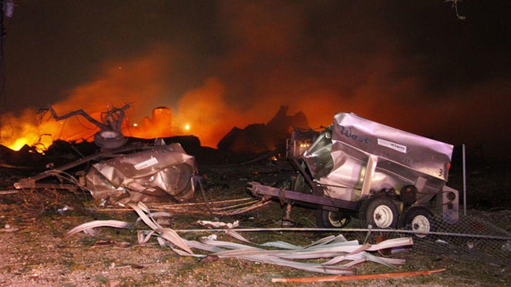 Las imágenes de la explosión en la fábrica de Texas