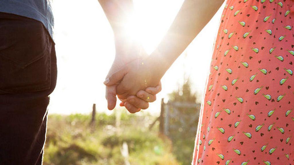 Pareja, manos, amor