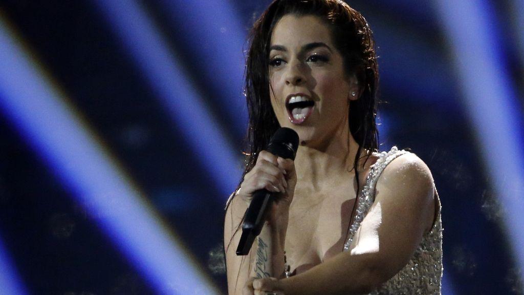 La cantante Ruth Lorenzo representando a España