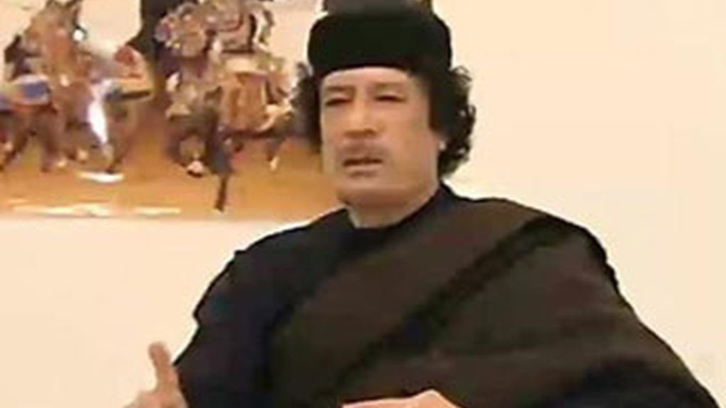 Imagen del líder libio, Muamar al Gadafi.