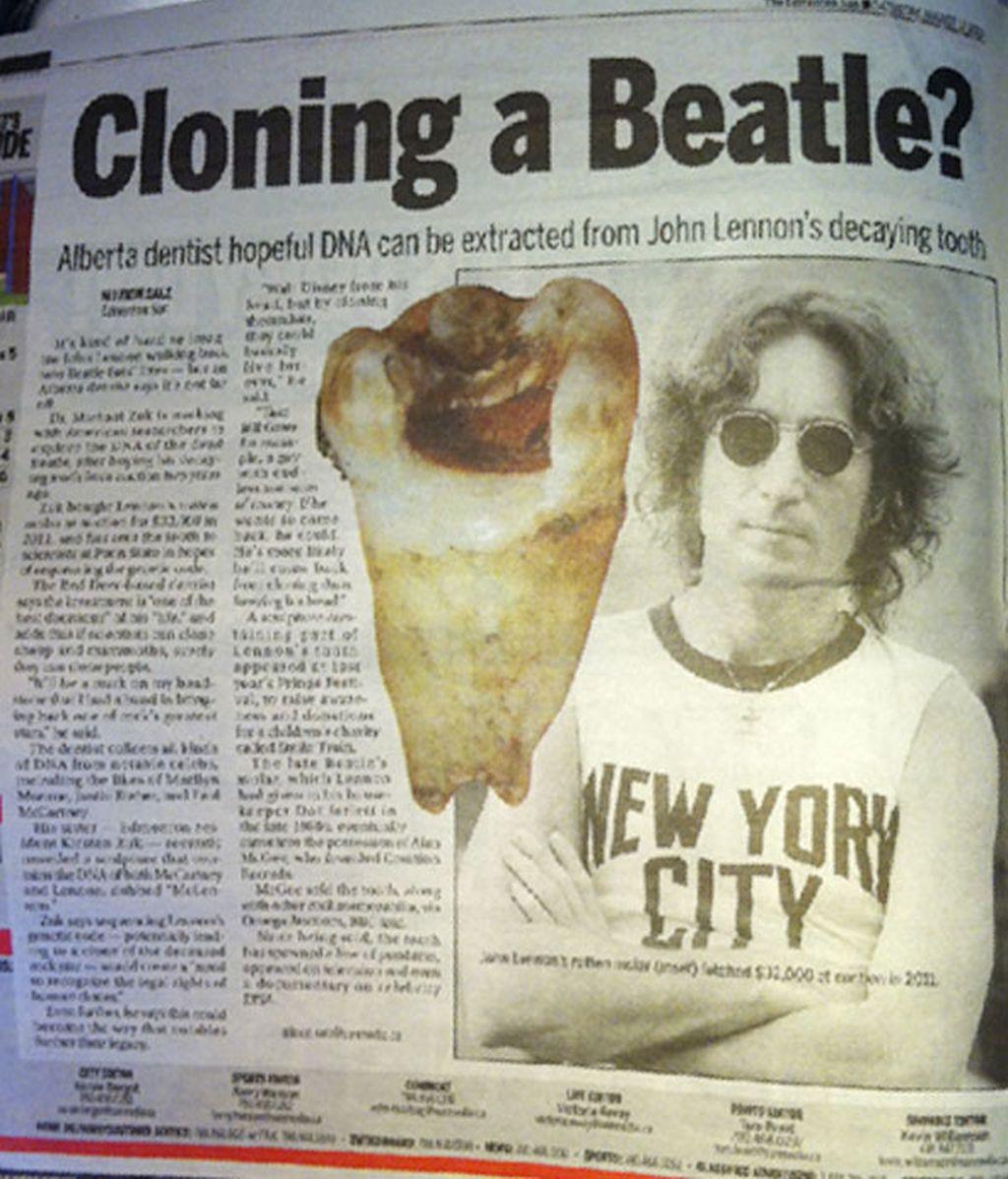 John Lennon,diente,clonar,clonación,dentista canadiense,Michael Zuk